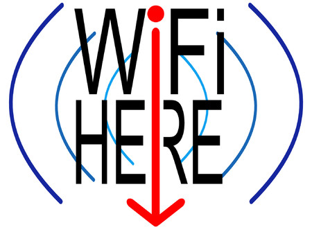 wireless connection: wifi here sign indication of wireless connection Illustration