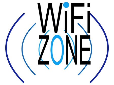 wireless connection: wifi zone sign indication of wireless connection Illustration