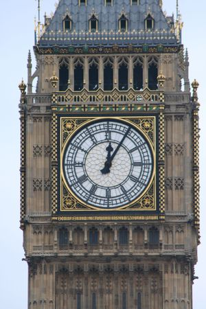 clockface of St Stephens tower Big ben Houses of parliament London photo