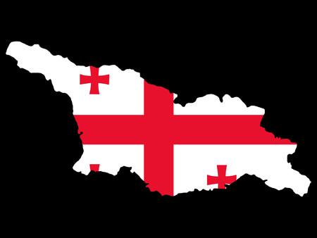 georgia: map of Georgia and Georgian flag