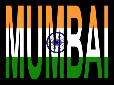mumbai: Mumbai and Indian flag illustration