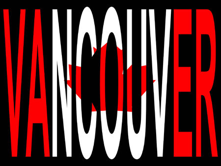 vancouver city: City of Vancouver and Canadian flag