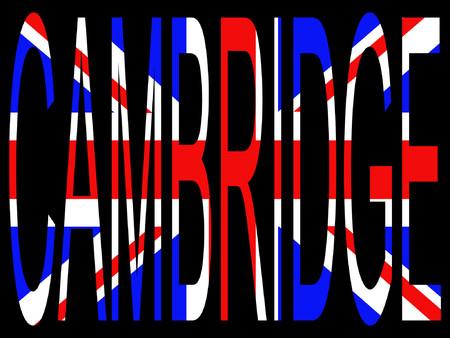 City of Cambridge and British flag illustration Vector