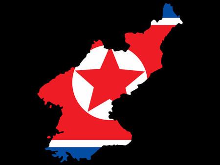 pyongyang: map of North Korea and North Korean flag Illustration