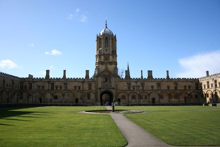 christ church: Tom Tower and Tom Quad Christ Church college Oxford