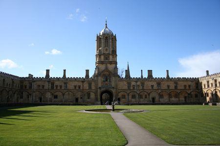 tom: Tom Tower and Tom Quad Christ Church college Oxford