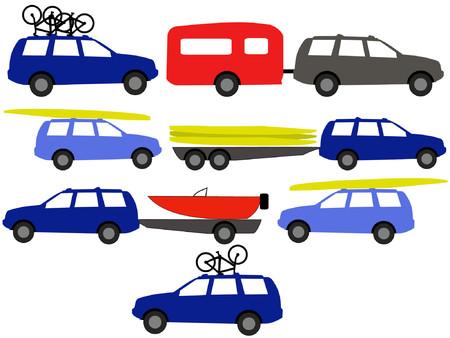 caravan: recreation vehicles towing caravan illustration Illustration