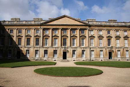 ornate architecture of a College at Oxford university  Stock Photo