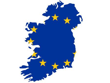 map of Ireland and european union flag illustration Stock Vector - 839092