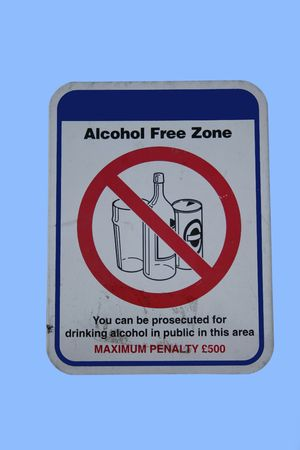 No drinking alcohol sign with assorted symbols photo