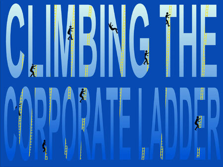 corporate ladder: business concept climbing the corporate ladder