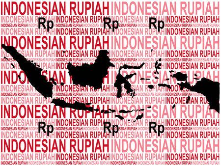 indonesisch: Indonesische munt met kaart van Indonesië