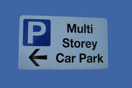 multi storey car park sign with arrow Stock Photo - 853224