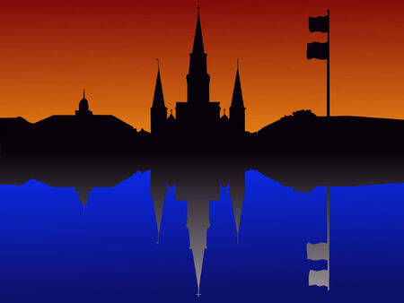 St Louis Cathedral Jackson Square New Orleans Vector
