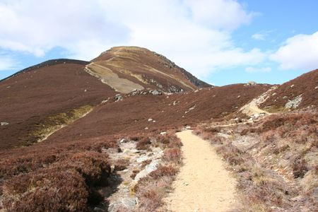 maintained: well maintained walking path in Scottish highlands Stock Photo