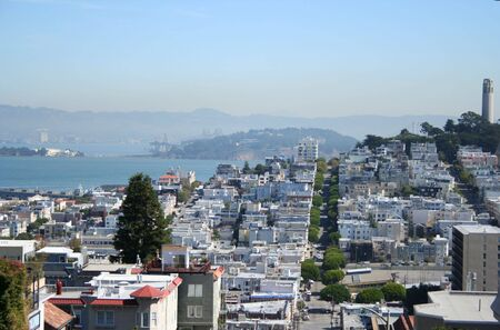 coit tower: coit tower and suburbs of San Francisco