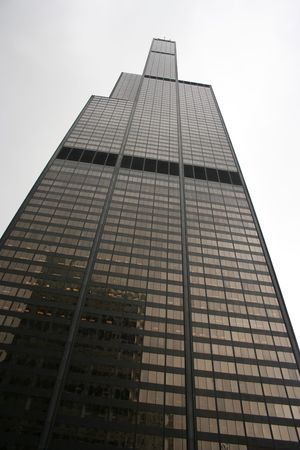 sears: looking up at Sears Tower Chicago Illinois