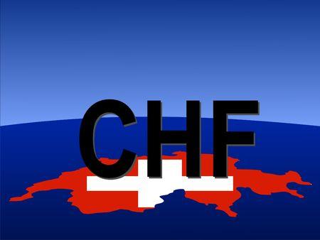 frank szwajcarski: frank szwajcarski znak z mapy i banderą z Szwajcaria miejsca