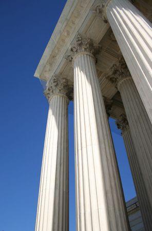 Supreme court columns Washington DC USA Stock Photo