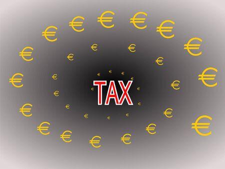 sap: euros being sucked in tax vortex illustration