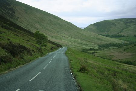 deserted country road on Isle of Arran Scotland