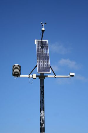 powered: Small solar powered weather monitoring station