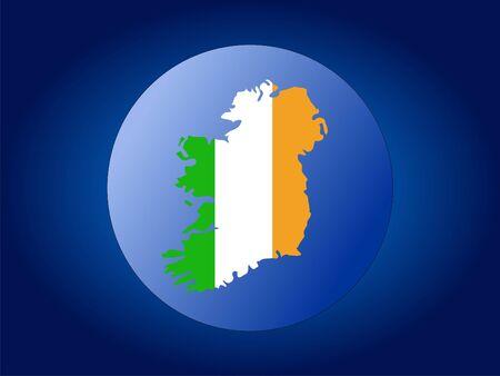 map and flag of Ireland globe illustration illustration