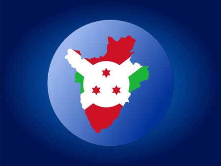 Map and flag of Burundi globe illustration Stock Illustration - 1142853