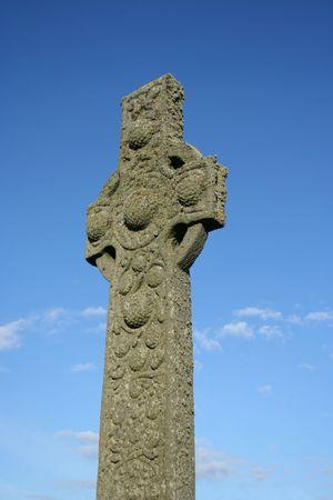 croce celtica: Celtica croce vicino Iona Abbey Scozia