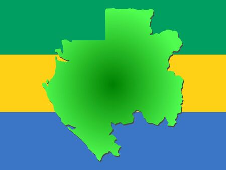 map of Gabon and their flag illustration Reklamní fotografie - 1158061