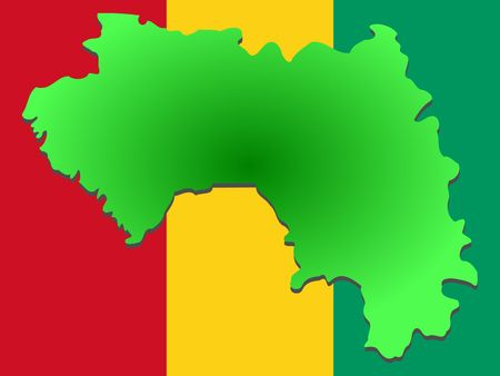 map of Guinea and their flag illustration Reklamní fotografie - 1158064