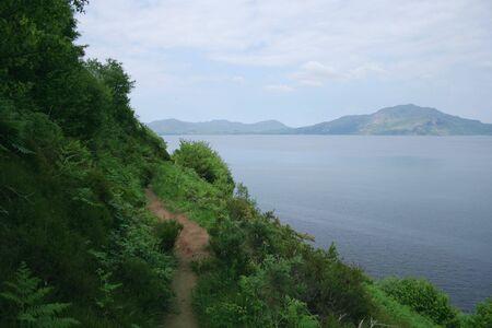 Mull: Coastal walking path Isle of Mull, Scotland Stock Photo
