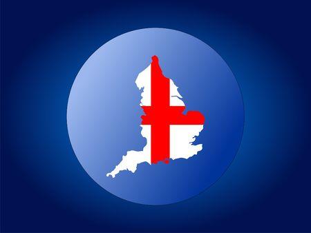 map and flag of England globe illustration illustration