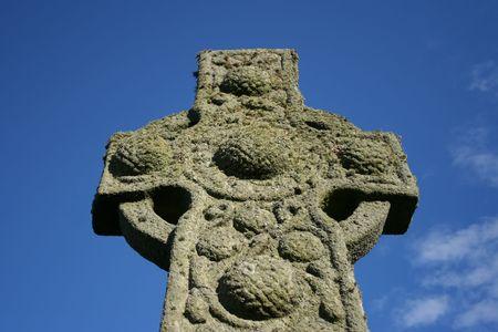 croce celtica: Ricerca di croce celtica vicino Iona Abbey Scozia Archivio Fotografico