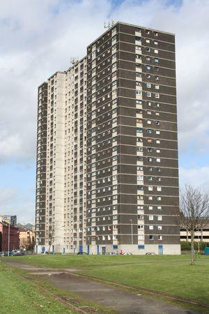 megfosztott: Low income Tower block, Glasgow, Scotland