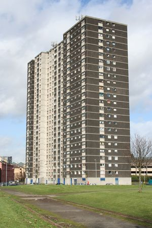 ��low income housing�: Low income Tower block, Glasgow, Scotland