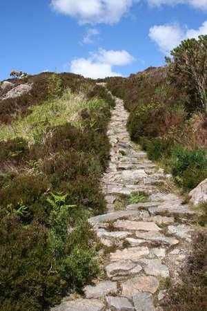 en mont�e: Sentier principal Uphill Banque d'images