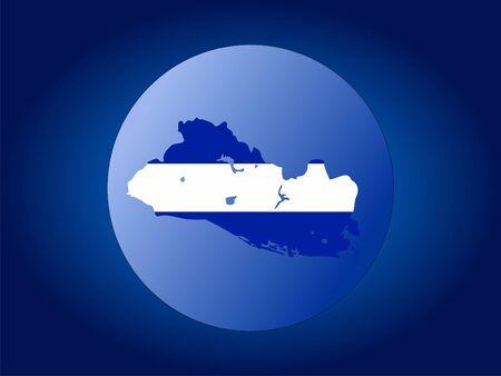 mapa de el salvador: mapa y la bandera de El Salvador mundo ilustraci�n