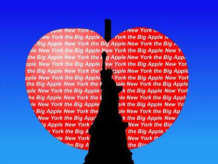 big apple: Statue of Liberty New York city the big Apple