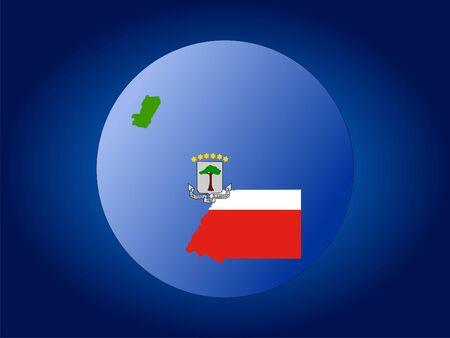 map and flag of Equatorial Guinea globe illustration illustration