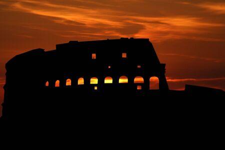 colloseum: Colloseum Rome at sunset illustration