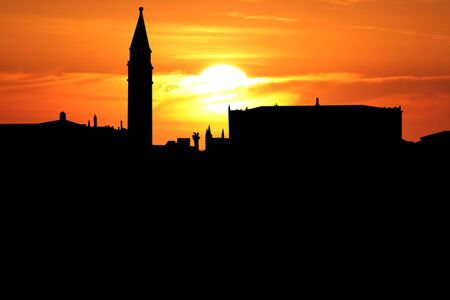 st marks square: St Marks Square Venice Italy at sunset illustration