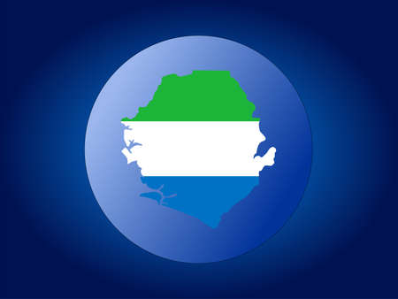 map and flag of Sierra Leone globe illustration Stock Illustration - 1297602
