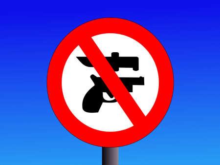 no weapons guns or knives sign illustration Stock Illustration - 1342461