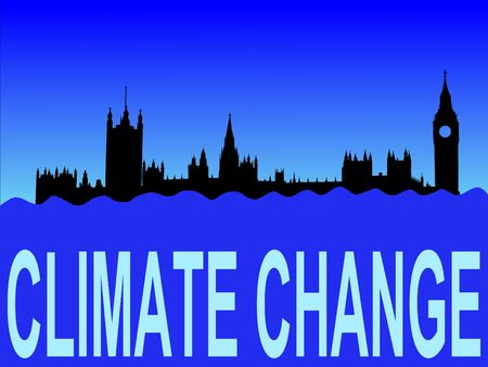 houses of parliament: Houses of parliament London flooded due to climate change