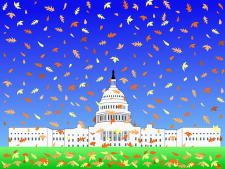 representatives: US Capitol building in Autumn with falling leaves