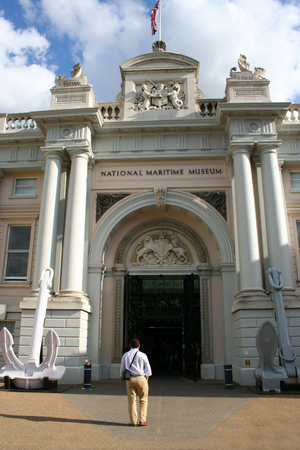 greenwich: entrance to National Maritime museum, Greenwich London