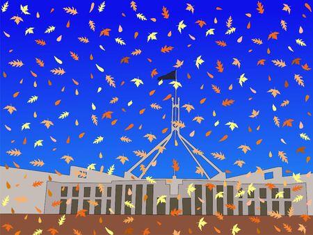 parliament: Australian parliament in autumn