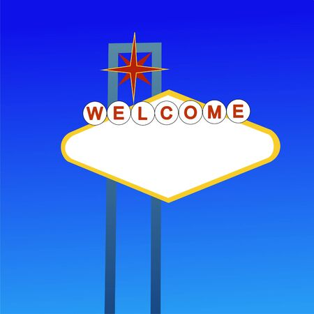 Blank welcome sign based on Fabulous Las Vegas