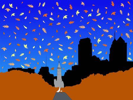 pennsylvania: City Hall and Benjamin franklin Parkway Philadelphia in autumn